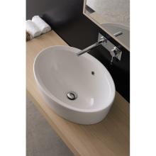 Oval drop in washbasin Matty