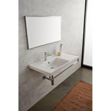 Drop In or wall-hung washbasin with shelf ML