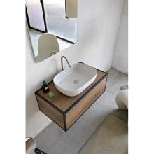 Rectangular countertop washbasin without taphole Glam