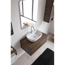 Rectangular Countertop Washbasin with taphole Glam