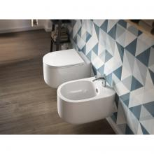 Rimless Wc + Bidet Wall-hung Giò Evolution