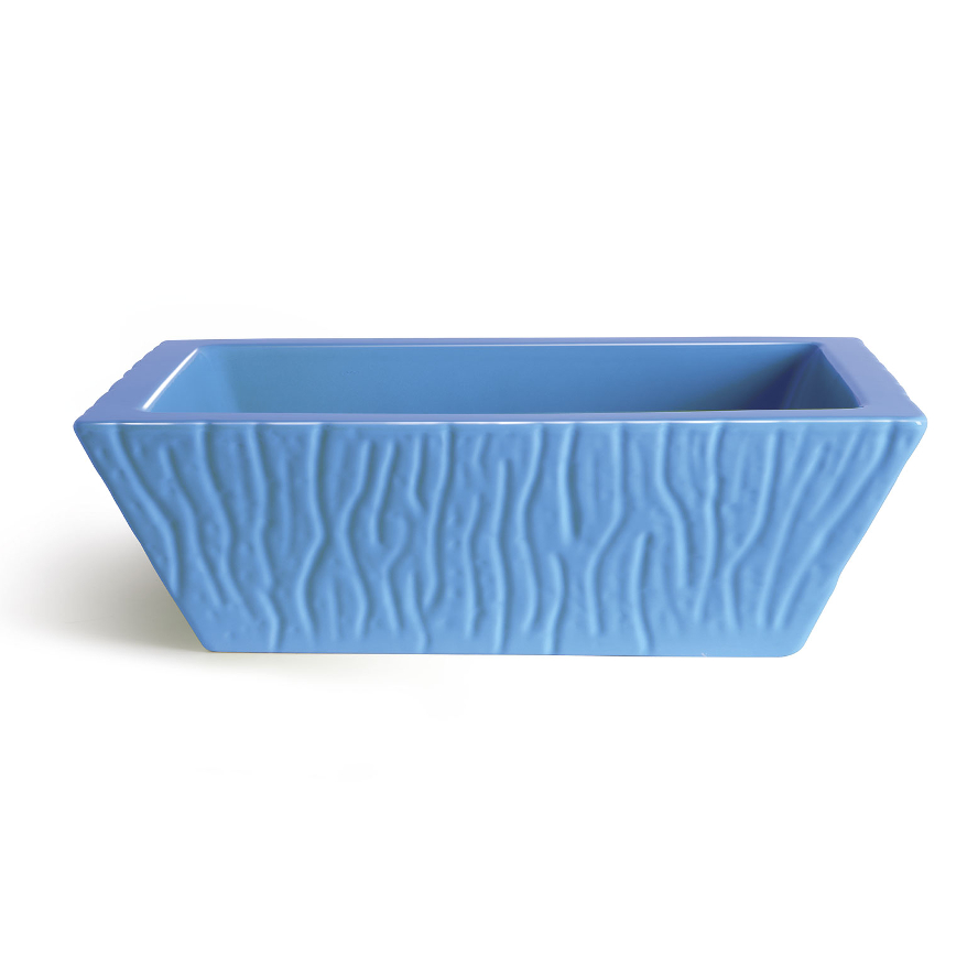 Rectangular Countertop/Wall-hung Washbasin Pietra Glossy Cyan