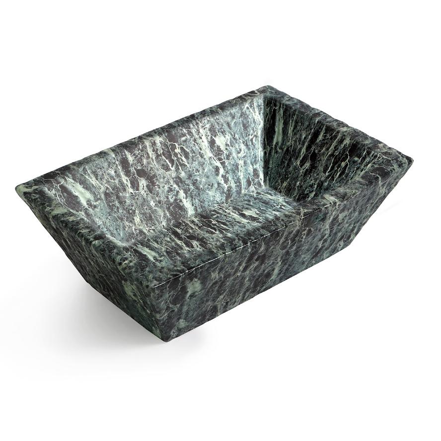 Rectangular Countertop/Wall-hung Washbasin Pietra Alps Green