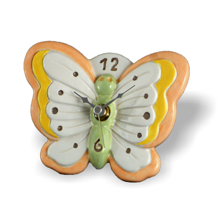 Small Clock Table Butterfly