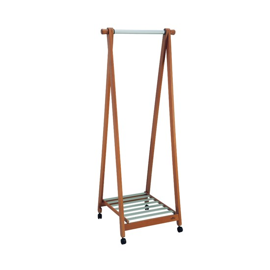 Clothes stand in solid wood Show Wheel