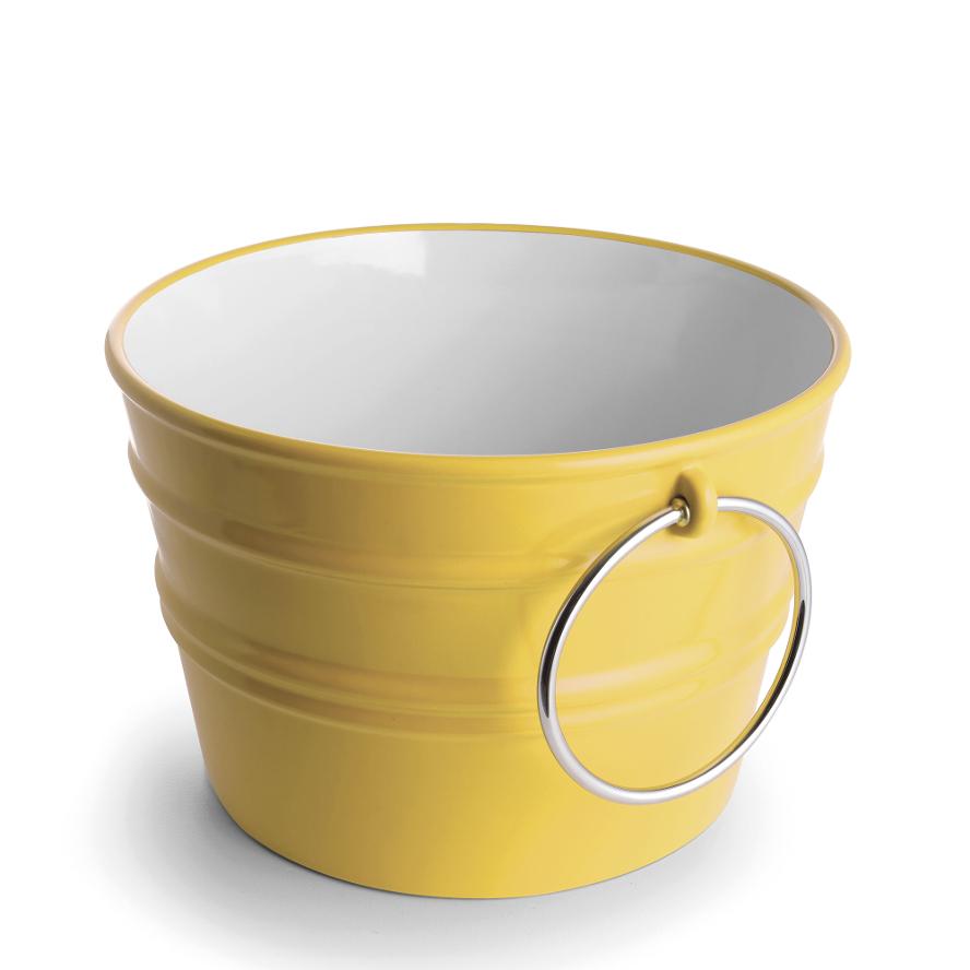 Round Countertop/Wall-hung Washbasin Bacile Glossy Sirio Yellow