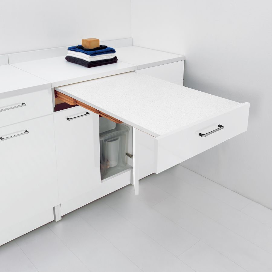 Base with pull-out table