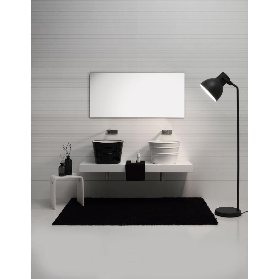 Round Countertop/Wall-hung Washbasin Bacile White