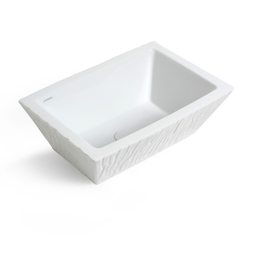 Rectangular Countertop/Wall-hung Washbasin Pietra White