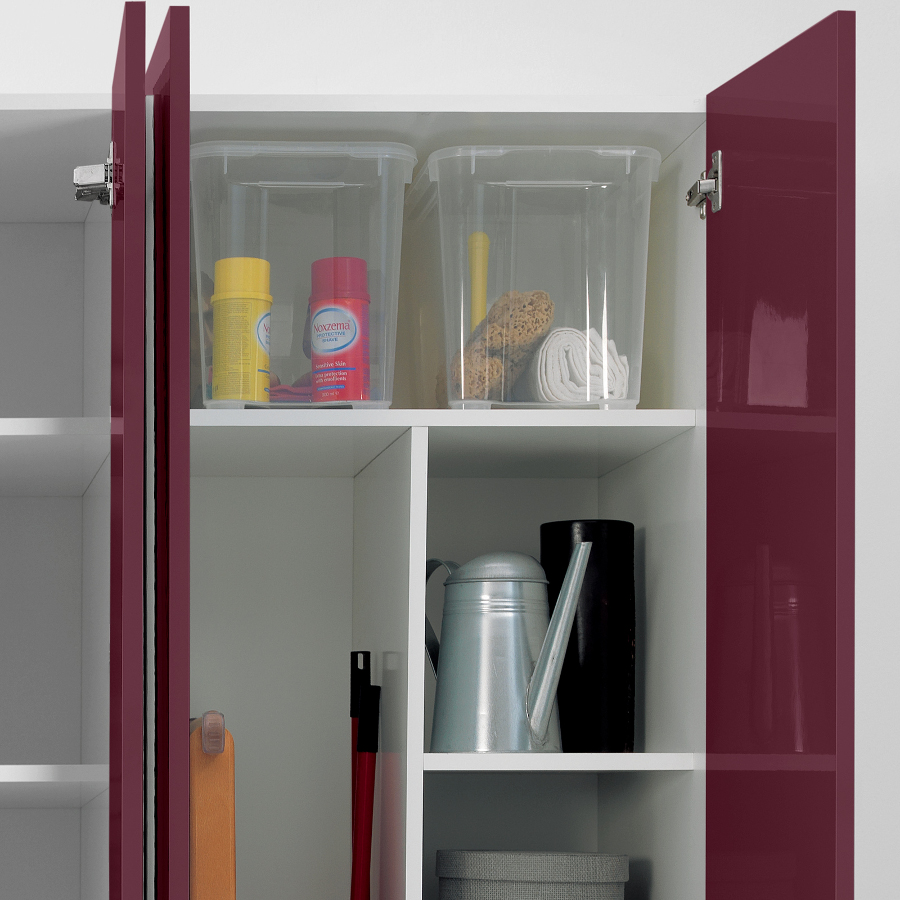 Laundry column two doors with shelves and containers Colf