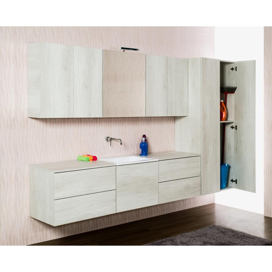 Bathroom/laundry wall-hung composition cm 270 Unika