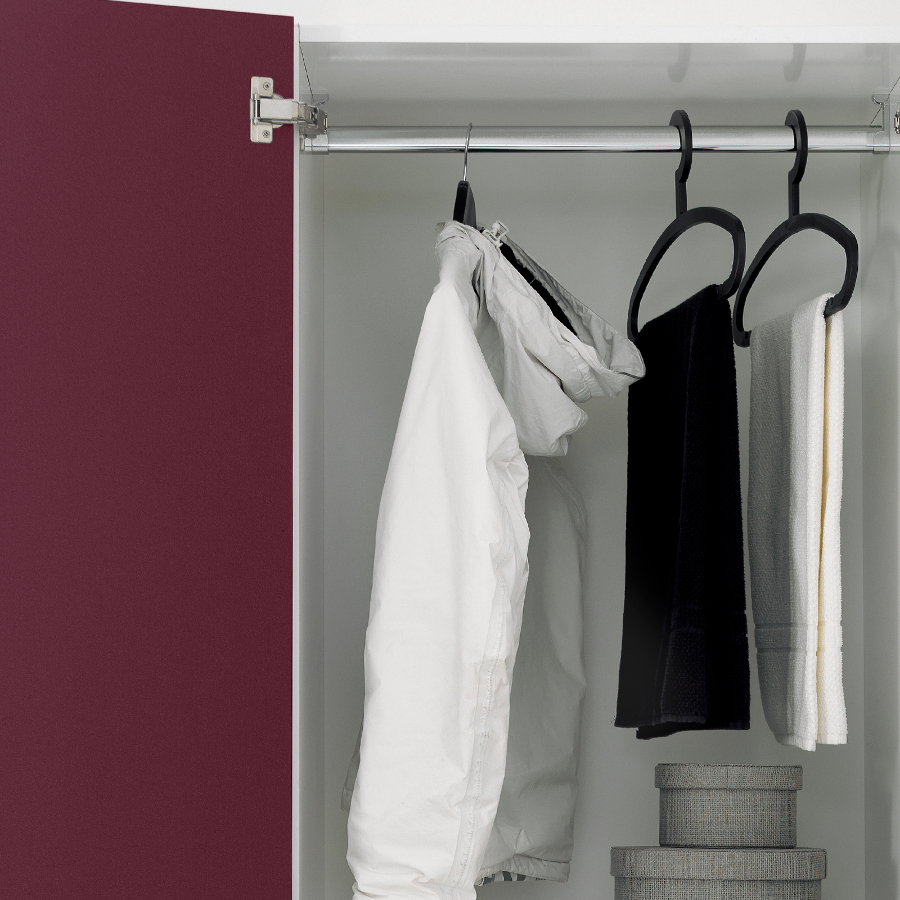 Laundry column with two doors, extractable table and laundry basket Colf