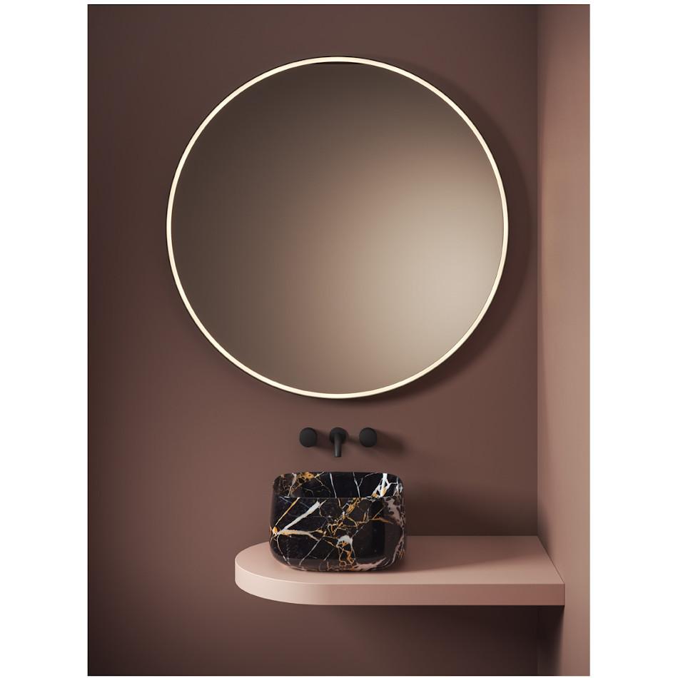 Countertop wash basin 43x43 cm Cognac Quadro Marmi & Graniglie