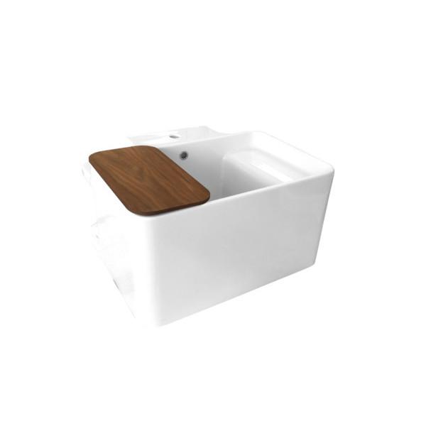 Wall-hung washbasin cm 60x50 Anfibio