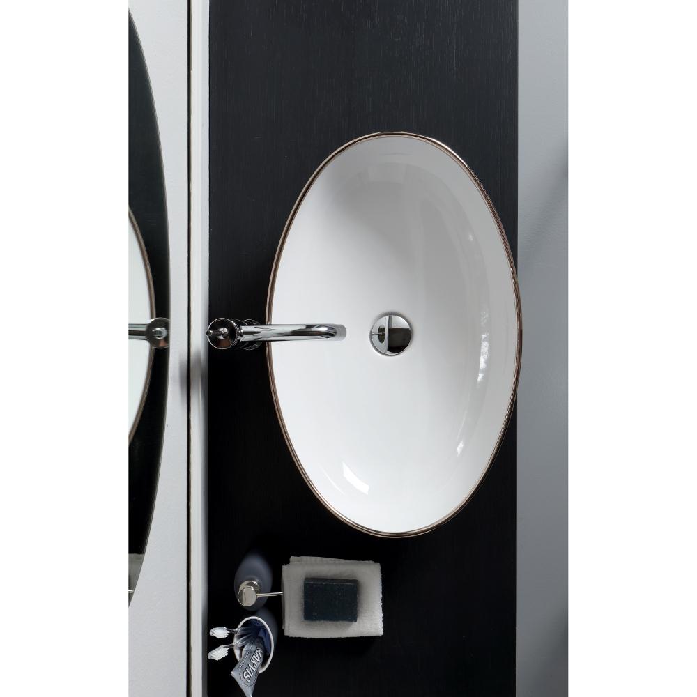 Countertop oval washbasin cm 60x39 Vessel