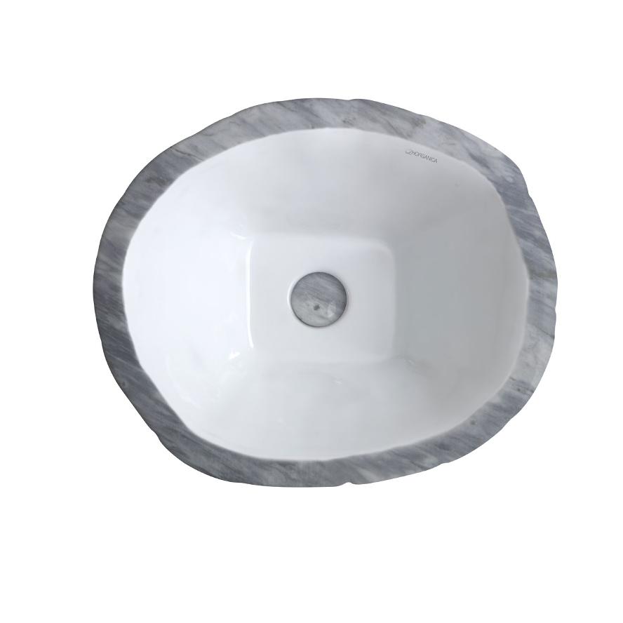Oval Countertop/Wall-hung Washbasin Terra Bardiglio