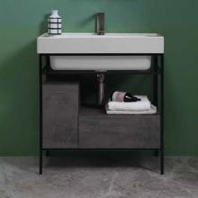 Washbasin unit with drawer and door 70x50xH76 Quadrello