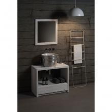 Round Countertop/Wall-hung Washbasin Bacile Satin Silver