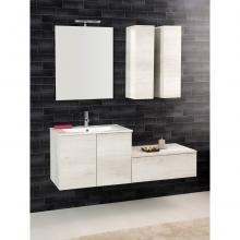 Wall-hung Bathroom Composition Unika cm 140 white elm