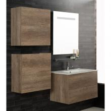 Wall-hung Bathroom Composition Unika 160 natural elm