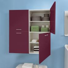 Laundry column with two right doors and internal shelves Brava