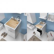 Indoor washtub 45x50xH86 with laundry basket Jollywash