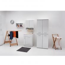 Indoor washtub 60x60x86 cm with washbasin and laundry basket Jollywash