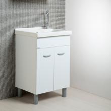 Laundry white unit + ceramic 60x50 Onda