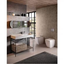 Structure with drawer and shelves for cm 100 washbasin Faster Kiub