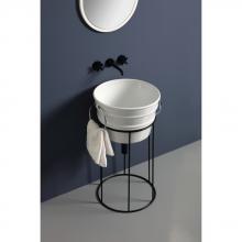 High iron washbasin cabinet Bacile