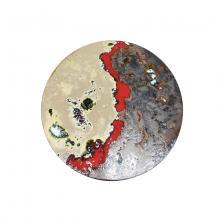 Round modern lava stone tabletop Red Rocks