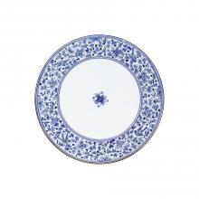 Round lava stone tabletop Arabesco Blu