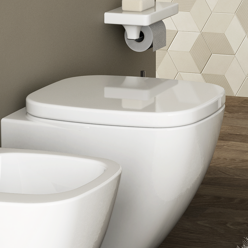 Selected toilet seats made in Italy