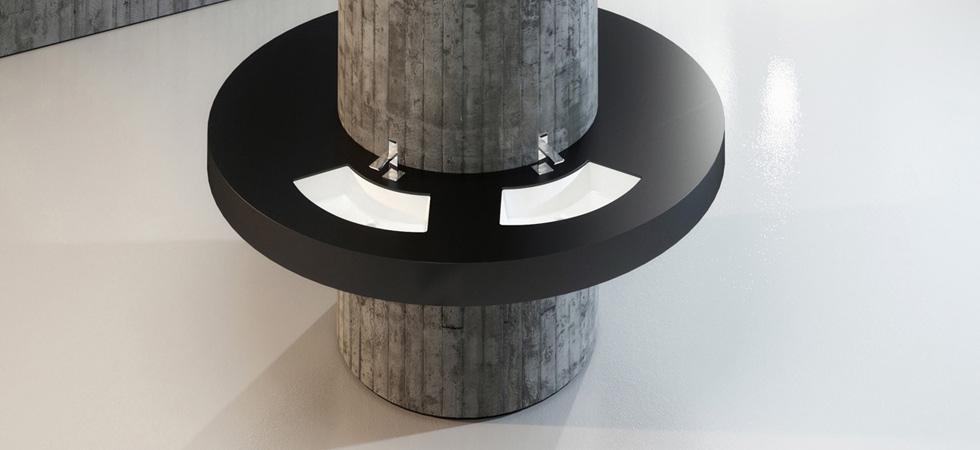 Bathroom washbasin by the Italian design!